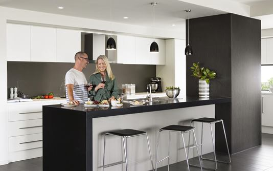 Rawson Homes Lifestyle Couple in Kitchen