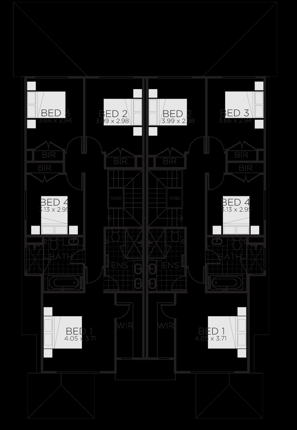 Bronte Duplex Design | 2 Storey Duplex House Plans ...