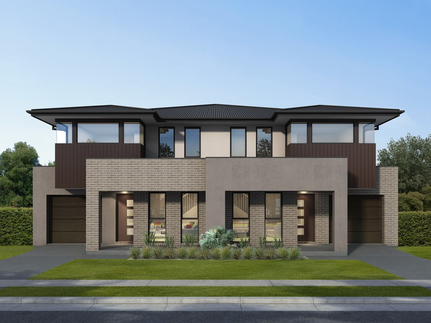 Medina Duplex Home Design with Regal Facade