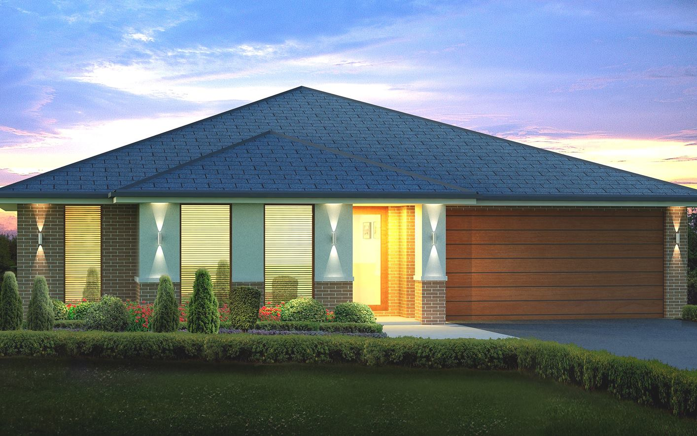 Metford Split Level Home Design with Classic Facade