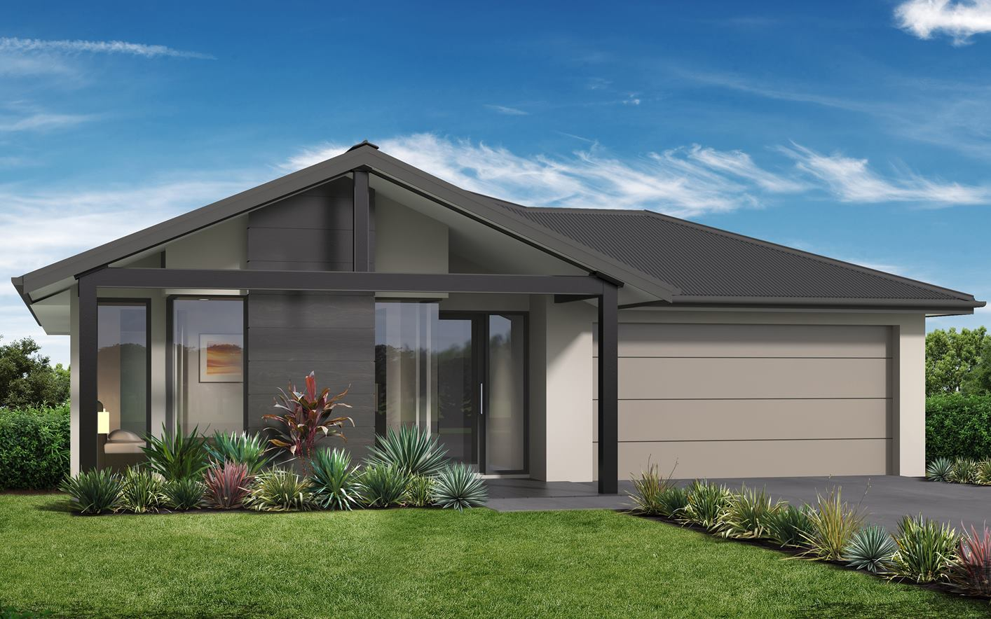 Metford Split Level Home Design with Coastal Facade