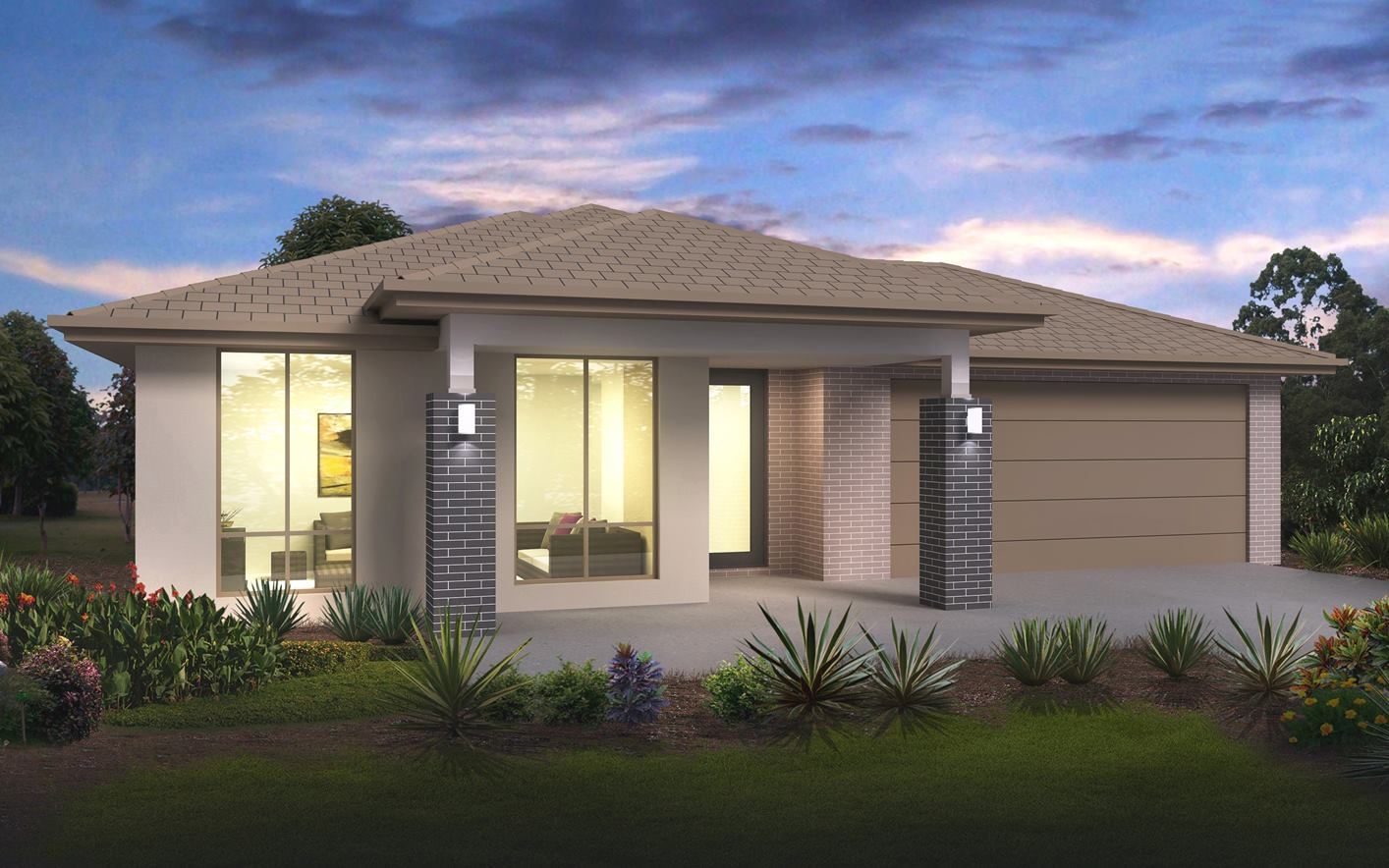 Metford Split Level Home Design with Regal Facade