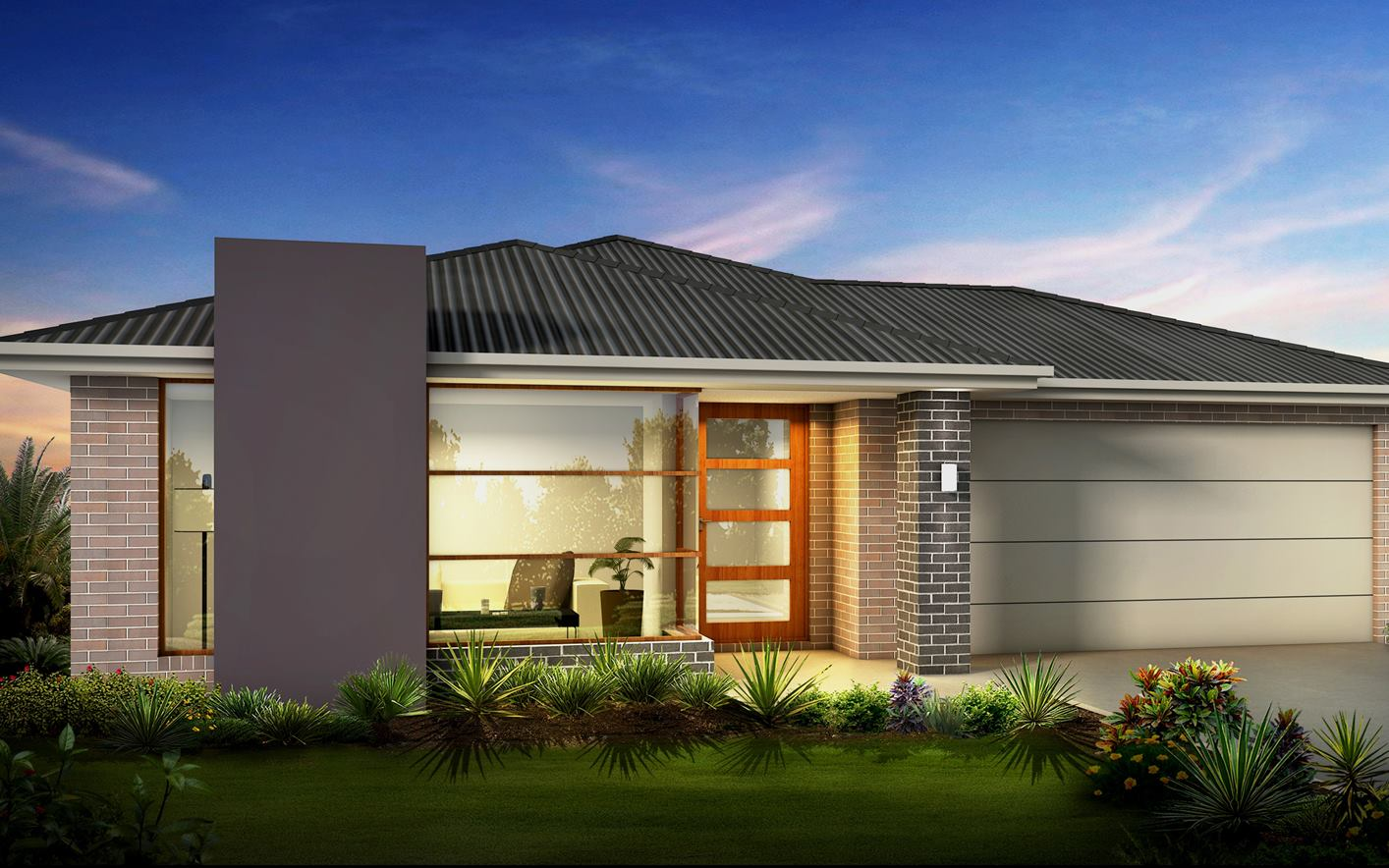 Metford Split Level Home Design with Trend Facade