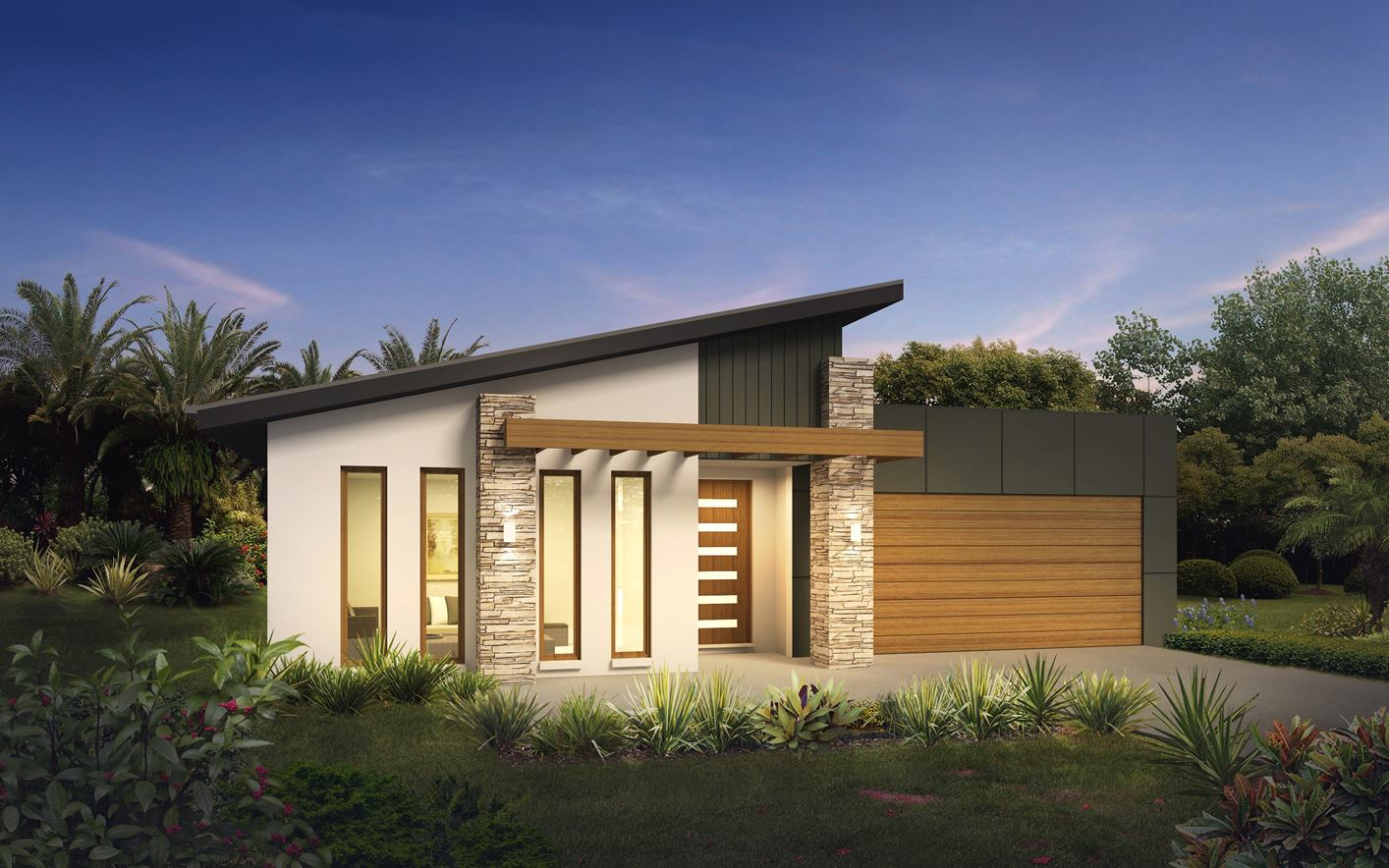 Metford 28 Home Design with Metro Facade