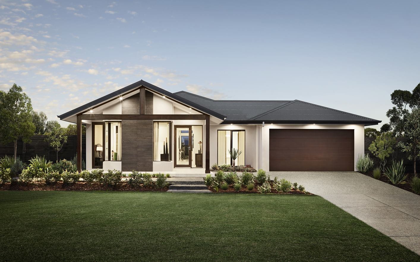 Metford Home Design with Coastal Facade Calderwood