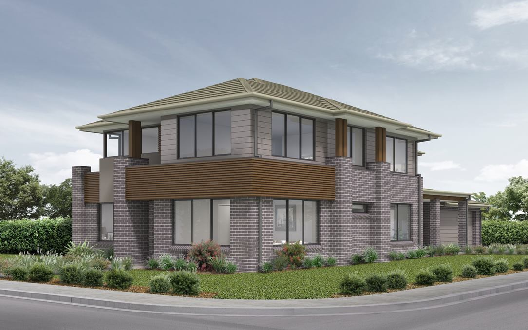 Newlyn Home Design with Vogue Facade for Corner Lots