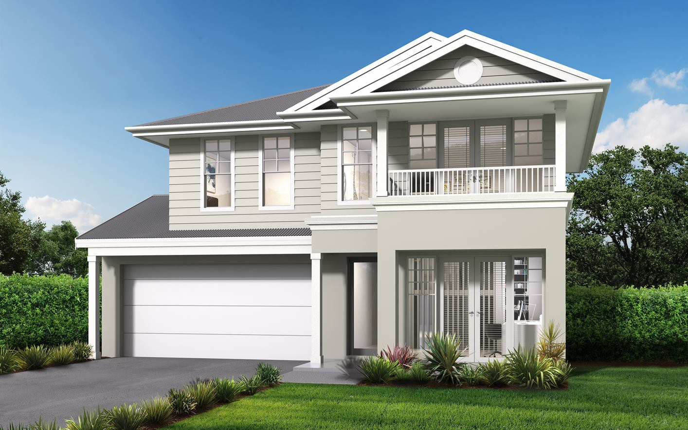 Novera Home Design with Hampton Facade