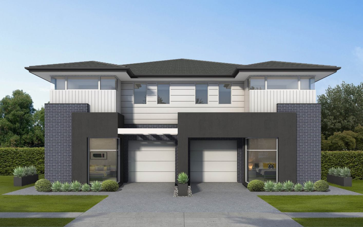 Sarina Duplex Home Design with regal facade