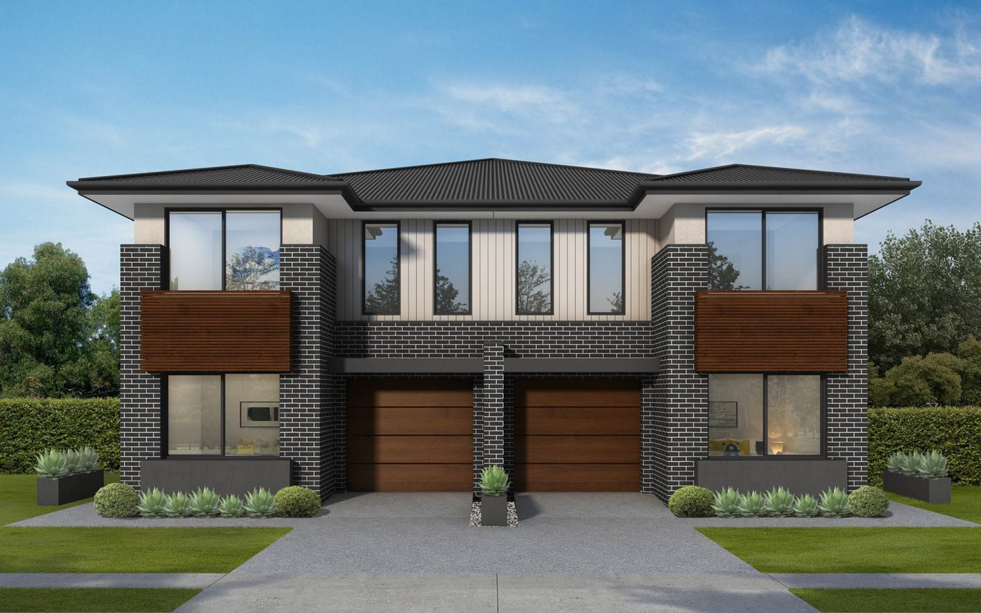 Sarina Duplex Home Design with vogue facade