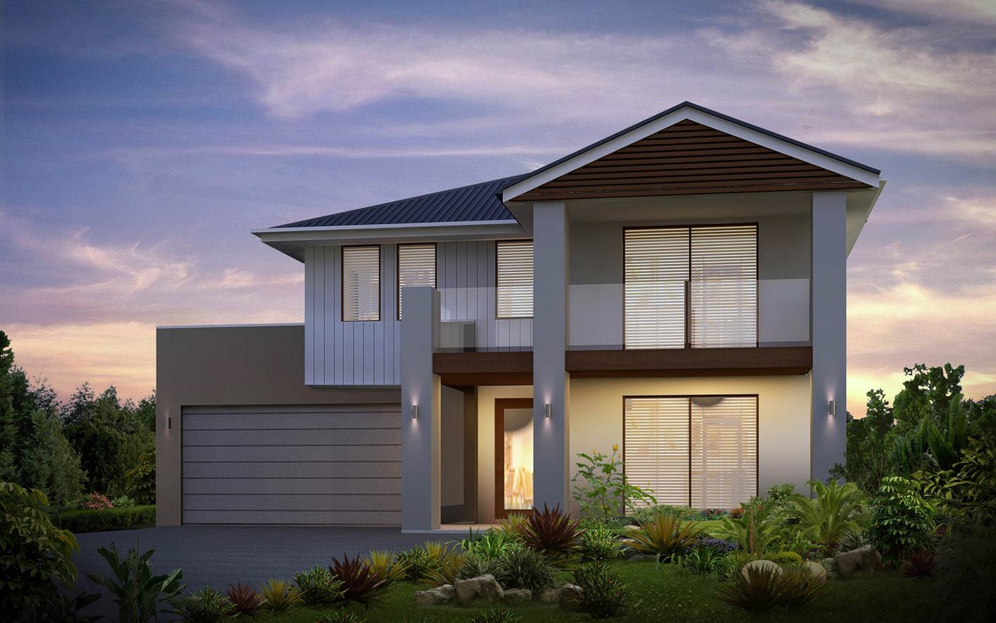 Seaview House Design with Majestic Facade