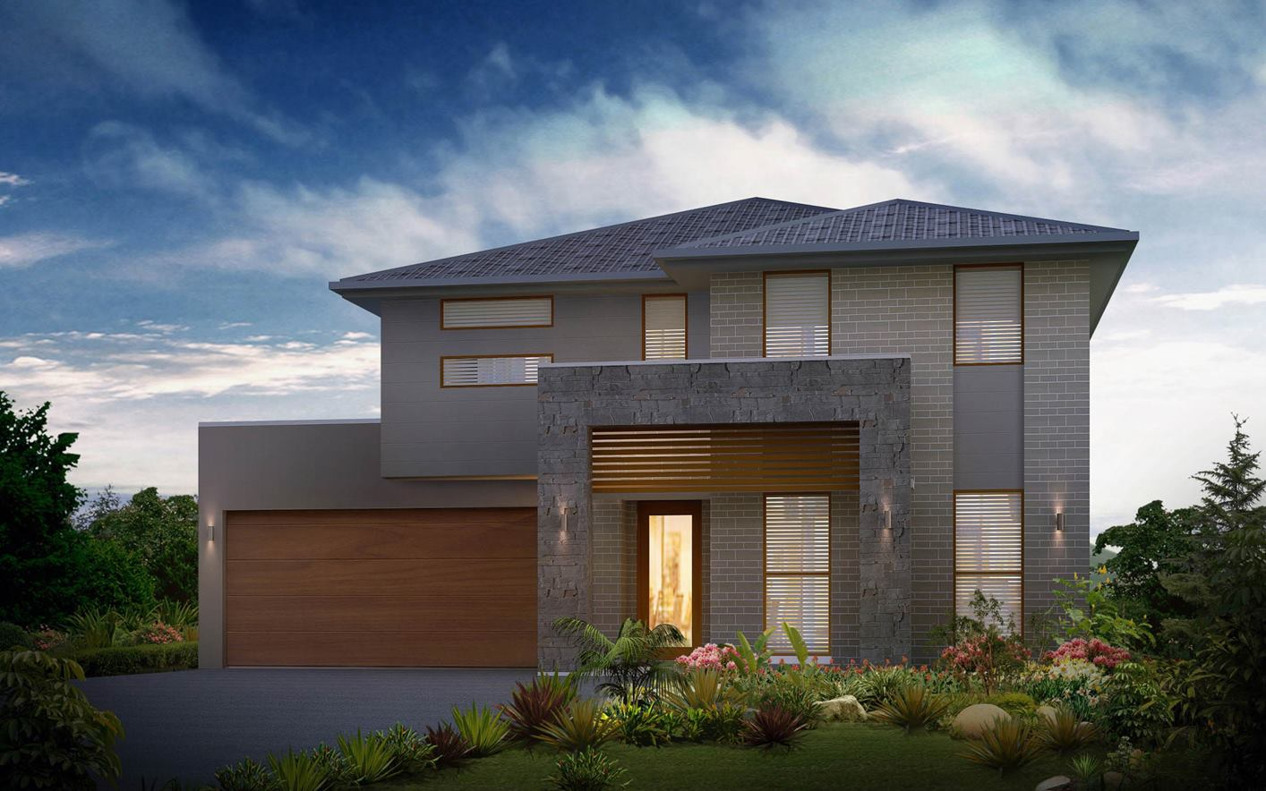 Seaview House Design with Regal Facade