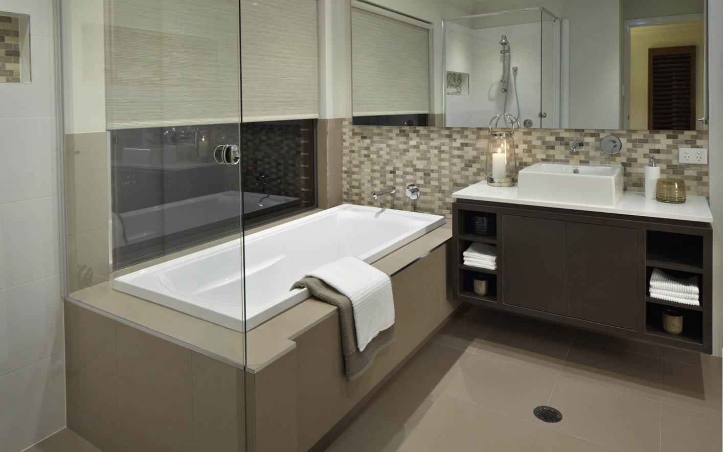 Seaview House Design Family Bathroom