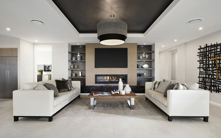 Serene Home Design Lounge Room